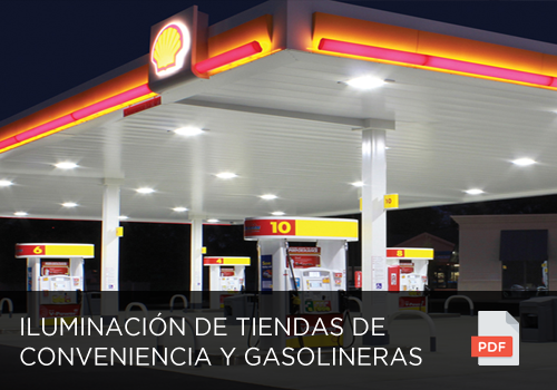 Iluminación de Tiendas de Conveniencia y gasolineras