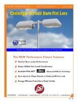 Lente plana Challenger Vertical Burn