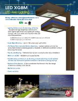 XGBM Iluminación de área LED