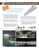 XLPG Iluminación lineal de estacionamiento