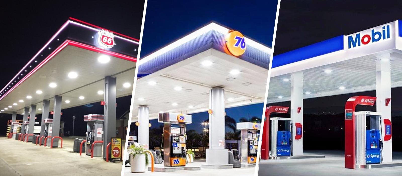 Iluminación de Tiendas de Conveniencia y gasolinerías / Iluminación LED para Gasolinerías